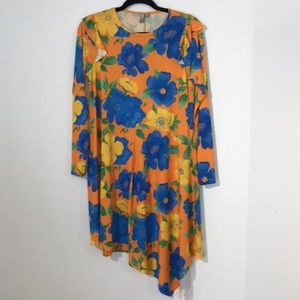 Asos asymetric floral dress